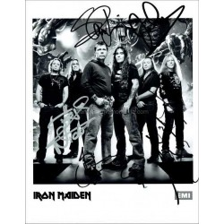 Iron Maiden Autographed 10x8 Photo