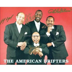 The American Drifters Autographed 10x8 Photo