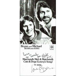 Brian and Michael Autographed Photocard
