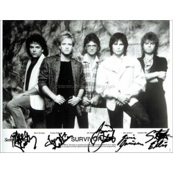 Survivor Autographed 10x8 Photo