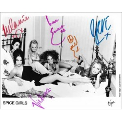 Spice Girls Autographed 10x8 Photo