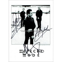 Depeche Mode Autographed 7x5 Photo