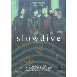 Slowdive Autographed 8x6 Tour Flyer