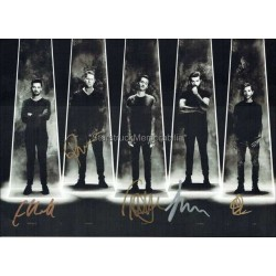Editors Autographed 12x8 Photocard