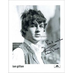 Ian Gillan Autographed 10x8 Photo