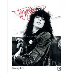 Tommy Lee Autographed 10x8 Photo