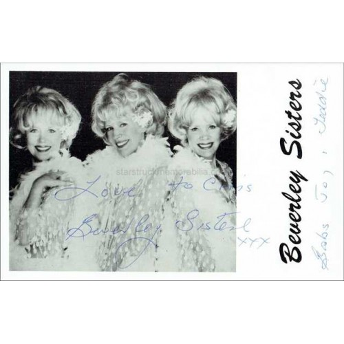 Beverley Sisters Autographed 6x4 Photo