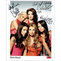 Girls Aloud Autographed 10x8 Photo