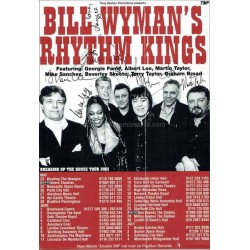 Bill Wyman's Rhythm Kings Autographed 8x6 Tour Flyer