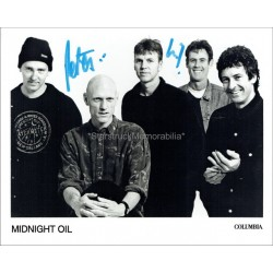 Midnight Oil Autographed 10x8 Photo