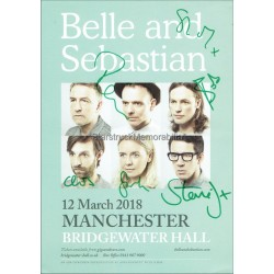 Belle and Sebastian Autographed 8x6 Photocard