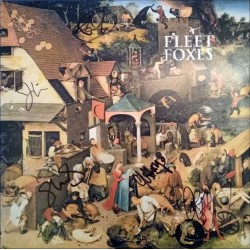 Fleet Foxes Autographed LP