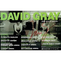 David Gray Autographed 8x6 Page