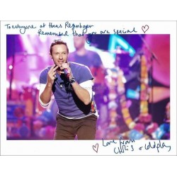 Chris Martin Autographed 10x8 Photo