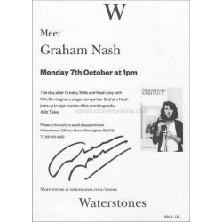 Graham Nash Autographed 8x6 Flyer