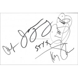 Styx Autographed 8x6 White Card