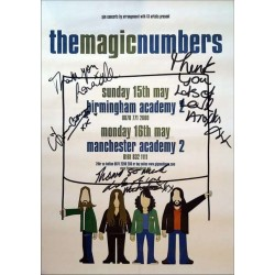 The Magic Numbers Autographed 16x12 Tour Poster