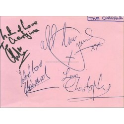 The Casuals Autographed 6x4 Page