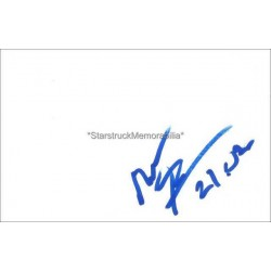 Marco Fortes Autographed 6x4 White Card