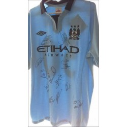Manchester City Autographed Football Shirt