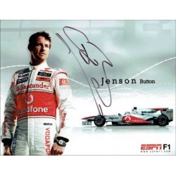 Jenson Button Autographed 10x8 Photo
