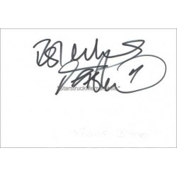 Frank Bruno Autographed 5x3 White Card