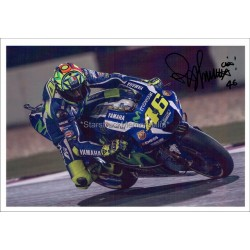 Valentino Rossi Autographed 10x8 Photo