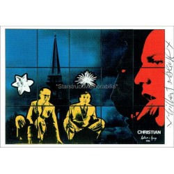 Gilbert and George Autographed 6x4 Photocard