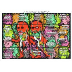 Gilbert and George Autographed 8x6 Photocard