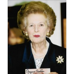 Margaret Thatcher Autographed 10x8 Photo