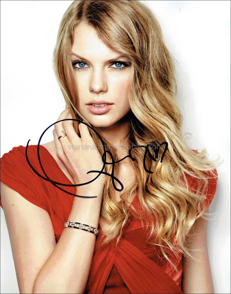 Taylor Swift *1989, Red, Fearless, UACC* Hand Signed ...
